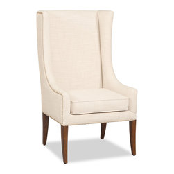 """Hooker Furniture - Decorator Chair - Accent Chair 14 - White glove, in-home delivery!  For this item, additional shipping fee will apply.  Fabric: Linosa Linen  Finish: Felton  Seat height: 20""""  Seat depth: 19 1/2""""  Arm height: 22"""""""