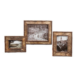 Birch Bark Photo Frames, Set of 3