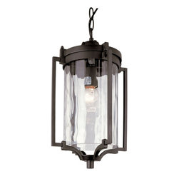 """Trans Globe Lighting - Coastal Sea 16"""" Hanging Lantern - Black - Enjoy ourdoor breezes and coastal elements with water glass lanterns that add warm reflections across landscape and garden entry areas. Glass is open at bottom.; Weather resistant cast aluminum; Includes 3' chain for hanging adjustments; Clear water glass adds accent shadows to landscape and gardens; Down direction bulb adds brighter light at entry area and porch; Coastal inspired complete outdoor lighting collection; Materials: Cast Aluminum, Glass; Bulb Type: Medium - E-26 - E-27 - Type A; Bulb Wattage: 100; No. of lights: 1; Bulbs Included:No; Glass: Clear Water Glass; Dimensions:9""""W x 15.5""""H"""