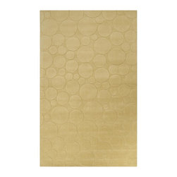 Surya - Surya Sculpture Hand Loomed Yellow Wool Rug, 2' x 3' - Striking and sophisticated, the rugs of the Sculpture Collection utilize the art of surface carving to reveal elegant pattern and textural energy. Created by respected interior designer Candice Olson, each rug is an artistic representation of ultimate luxury and simplicity. Hand-woven from 1% Wool, they make the ideal addition to any transitional or contemporary interior. Imported.Material: 100% WoolCare Instructions: Blot Stains