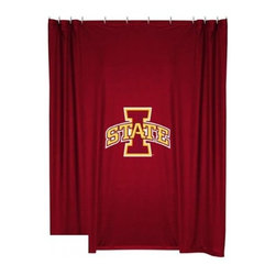 Sports Coverage - Iowa State Cyclones Shower Curtain - This 72 x 72 officially licensed Iowa State University Cyclones shower curtain of jersey material with logo is perfect for any bathroom in need of a little extra team spirit. It weighs approximately one pound and is screen printed with Plastisol. Shower Curtain is 100% Polyester Jersey
