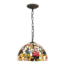 Tiffany Home Pendant Lighting With Stained Glass Shade - Tiffany Home Pendant Lighting With Stained Glass Shade. Each Tiffany lamps from ParrotUncle is handmade by skilled craftsmen, not mass- or machine-produced. All stained leaded glass lampshades are designed in particular drawing. Cut the glass, smooth them and assemble with handwork. Hand formed steel frames looks antique, adding a touch of elegance and timeless atmosphere to any room.