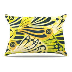 "Kess InHouse - Anchobee ""Papalote"" Pillow Case, Standard (30"" x 20"") - This pillowcase, is just as bunny soft as the Kess InHouse duvet. It's made of microfiber velvety fleece. This machine washable fleece pillow case is the perfect accent to any duvet. Be your Bed's Curator."