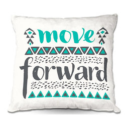 DiaNoche Designs - Pillow Woven Poplin from DiaNoche Designs by Pom Graphic Design - Move Forward - Toss this decorative pillow on any bed, sofa or chair, and add personality to your chic and stylish decor. Lay your head against your new art and relax! Made of woven Poly-Poplin.  Includes a cushy supportive pillow insert, zipped inside. Dye Sublimation printing adheres the ink to the material for long life and durability. Double Sided Print, Machine Washable, Product may vary slightly from image.