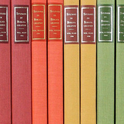 Rainbow Accent Books - Every designer loves to decorate with books. They are the easiest accessory to move around and update. Try buying sets of books in springtime colors to refresh your coffee table, console or bookcase.