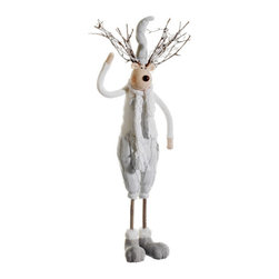 Silk Plants Direct - Silk Plants Direct Snowed Standing Reindeer (Pack of 4) - Pack of 4. Silk Plants Direct specializes in manufacturing, design and supply of the most life-like, premium quality artificial plants, trees, flowers, arrangements, topiaries and containers for home, office and commercial use. Our Snowed Standing Reindeer includes the following:
