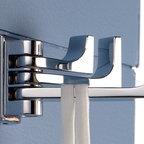 Frame Triple Pivoting Robe Hook -