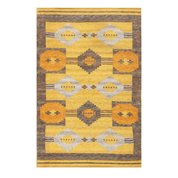 Nazmiyal Collection - Consigned Vintage Double-Sided Swedish Kilim By Nazmiyal - Date: Mid 20th Century