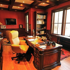 Traditional Home Office by Bill Huey + Associates