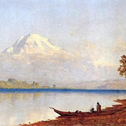 "Sanford Robinson Gifford Mount Ranier, Washington Territory - 14"" x 28"" Premium - 14"" x 28"" Sanford Robinson Gifford Mount Ranier, Washington Territory premium archival print reproduced to meet museum quality standards. Our museum quality archival prints are produced using high-precision print technology for a more accurate reproduction printed on high quality, heavyweight matte presentation paper with fade-resistant, archival inks. Our progressive business model allows us to offer works of art to you at the best wholesale pricing, significantly less than art gallery prices, affordable to all. This line of artwork is produced with extra white border space (if you choose to have it framed, for your framer to work with to frame properly or utilize a larger mat and/or frame).  We present a comprehensive collection of exceptional art reproductions bySanford Robinson Gifford."