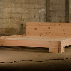Reclaimed Wood Douglas Fir Platform Bed - Reclaimed wood platform bed from Furniture by Ingvald.  Wood from ICSS Design and Supply.