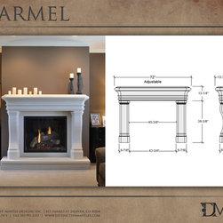 Carmel Stone Mantel by Distinctive Mantel Designs, Inc. - Photo by Eric Walden. Copyright Distinctive Mantel Designs, Inc. 2012