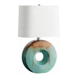 Blue Drip Glaze O Ceramic Table Lamp - *Oh Table Lamp