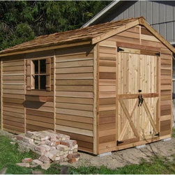 Cedar Shed - Cedar Shed 8 x 12 ft. Rancher Storage Shed Multicolor - R812 - Shop for Sheds and Storage from Hayneedle.com! Additional features: Complete with one year limited manufacturer's warranty Interior measures 7.75W x 12D x 7.8H ft. Includes a non-functional window for natural light Fixed window on door measures 24 x 26 inches Double door opening measures 60 inches wide Assembly is easy with all necessary tools even the bit included Wood arrives pre-cut and ready to build Cedar features natural oils that preserve wood and resist insect damage The Cedar Shed 8 x 12 ft. Rancher Storage Shed is one of the best selling sheds on the market for good reason. It has everything you're looking for in large item storage. It's made from quality cedar for the best in weather and insect resistance and it features a fixed window and double door for lighting and easy access. Great for motorcycles riding lawnmowers and snow blowers. Ships with all the necessary tools for easy comprehensive assembly. About Cedar Shed IndustriesSince 1980 Cedar Shed has grown to be one of the largest specialty cedar product manufacturers in the world. They offer top quality products like gazebos sheds and outdoor furniture all made from high-quality Western Red Cedar. Over the years Cedar Shed has grown developed and matured to the point where they are now shipping thousands of gazebos and garden sheds every year to customers around the world. Why Western Red Cedar?The supremacy of Western Red Cedar as an all-weather building material is entirely natural. Along with its beauty stability and endurance Western Red Cedar contains natural oils that act as preservatives to help the wood resist insect attack and decay. Properly finished and maintained Western Red Cedar ages gracefully and endures for many years. Western Red Cedar is non-toxic and safe for all uses. Over time the wood remains subtly aromatic and the characteristic fragrance adds another dimension to the universal appeal of the Cedar S
