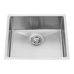 Vigo - Vigo VGR2320C 23 in. Single Basin Undermount Single Kitchen Sink - VGR2320C - Shop for Kitchen from Hayneedle.com! Simple convenient and extremely functional the Vigo VGR2320C 23 in. Single Basin Undermount Single Kitchen Sink is a perfect choice for your kitchen. Manufactured with 16-gauge premium 304 Series stainless steel this sink is fully undercoated and padded with unique multi-layer sound-eliminating technology. The curved corners make it easy to do dishes as does the sink's 12-inch depth. The satin finish resists scratches so you don't have to worry about ruining the sink's lovely appearance. Mounting hardware is included for easy installation.About Vigo Industries LLCFounded just over a decade ago in Rahway N.J. Vigo Industries has established a reputation for offering attractive affordable innovative and durable kitchen and bath products. From faucets and sinks to shower enclosures and bathroom vanities Vigo's products are designed with state-of-the-art engineering that combines efficiency and elegance. Vigo's engineering and design teams always look ahead to fulfill the ever-evolving needs and tastes of consumers bringing them the latest styles and trends without compromising quality.