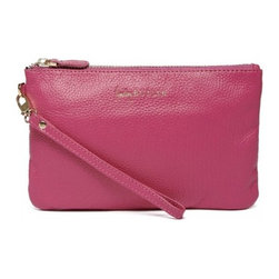 """Handbag Butler - Mighty Purse Poppy Pink Phone Charging Clutch - A fusion between fashion and technology, the Mighty Purse is an essential handbag accessories for the modern day woman! Featuring a lightweight built-in battery that can recharge most Smart Phones, ensuring that you will never be powerless. Its fresh, feminine color adds a pop of color to this great phone charging purse, elegantly organizing your smallest essentials. This modern yet versatile wallet is crated of the richest leather and features a slim and stylish design. Its high end design details make this an essential gift she will enjoy for years to come!   * Genuine leather  * Size: 20cm x 12.5cm x 2.5cm / 7.8 x 4.9 x 1""""  * Weight : 200g / 7.1oz  * Battery has a capacity of 4000mAh, that's more than twice your phone battery.  * Credit card pockets  * Integrated cables and adapters  * Compatible with iPhone, Android, HTC, Samsung, Blackberry and LG Smartphones (any device that uses Micro USB)     Please note: to use your Mighty Purse with an iPhone or iPad an additional adapter is required. If you do not have this adapter at home, it can be purchased on our website. See item number is MPAKIT."""