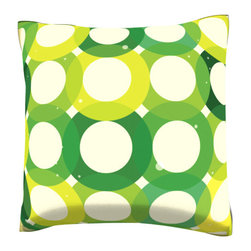 Custom Photo Factory - Green Seamless Tile Pattern  Polyester Velour Throw Pillow - Green Seamless Tile Pattern Background with Circular Design Pillow. 18 Inches x 18  Inches.  Made in Los Angeles, CA, Set includes: One (1) pillow. Pattern: Full color dye sublimation art print. Cover closure: Concealed zipper. Cover materials: 100-percent polyester velour. Fill materials: Non-allergenic 100-percent polyester. Pillow shape: Square. Dimensions: 18.45 inches wide x 18.45 inches long. Care instructions: Machine washable