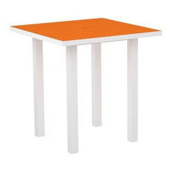 POLYWOOD® Euro 36 in. Square Counter Table with Aluminum Frame