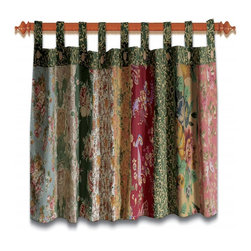 Greenland - Greenland Home Antique Chic Window Valance - Charming floral prints and paisleys combine 100% cotton with updated retro styling. This patchwork tab top valance is perfect for any window