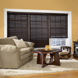 "Bali Northern Heights 2"" Wood Blinds - 2"" Northern Heights Wood blinds are the perfect choice for any home. Our extensive palette of on-trend paints and stains and our exclusive finishing process ensures natural warmth and beauty. Coordinate with Wood Vertical blinds to create an inviting space."