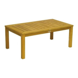 """Newport Teak 48"""" Rectangle Coffee Table - Along with the rest of the Newport collection, the Newport Coffee Table is   one-of-a kind craftsmanship that will complement your entire Teak Series. You   must see this to appreciate its glossy, luxurious wood finish and durable   makeup. Place this in front of your Teak Bench, Glider,"""