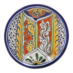 "Mexican Talavera - Mexican Talavera 6-1/4"" Decorative Plate - Available in Four Designs, Design D - Mexican Talavera Decorative Plate - 6-1/4"""