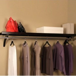 "John Louis Home Woodcrest 16 in. D Closet Shelf Kit - Whether you're looking to expand your existing organizer or add all new storage where there is none the John Louis Home Woodcrest 16 in. Closet Shelf Kit is a spectacular way to clean up your closet pantry bath or whatever other room needs less clutter. This affordable package includes a 6-feet long shelf and everything you need to hang it. This piece is great for decorative utility and traditional storage shelving and its solid wood design is ventilated to allow for better airflow in your closet. The John Louis Home Woodcrest Closet Shelf Kit is available in your choice of espresso or caramel finish options and includes curved angle brackets and mounting hardware. About John Louis HomeJohn Louis Home is based out of Earth City Missouri where they thrive as a premier provider of 100% solid wood closet organizers for the entire nation. Their versatile designs are often described as """"Affordable Elegance"""" because they're so beautifully crafted from top-of-the-line materials yet are easy on even the tightest budget. Whether it's a pantry linen laundry or foyer closet the John Louis Home brand has a detailed design that will make organizing your life a whole lot easier. Best of all each of their many storage solutions is made to suit any skill level so that even the most novice Do-It-Yourselfer can assemble a stunning closet organizer with nothing but a screwdriver saw level and pencil."