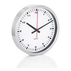 Blomus - ERA Stainless Steel Wall Clock, Large, White - A face everyone can love. Clean, classic and ever-popular, this stainless steel wall clock marks time with simplicity and style. Whether you like to look back to an industrial era or forward to the next generation of design, behold one face that time will never ravage.