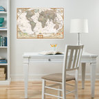 New for Back to School & Dorm Room Decor - Map of the World National Geographic dry-erase map decal New for Back to School & Dorm Room Decor