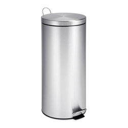 30L Round Stainless Steel Can With Bucket - 30l capacity- stainless steel construction