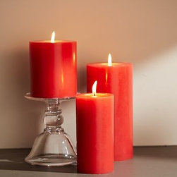 """Rustic Luxe(TM) Pillar Candle, 4 x 8"""", Coral - Our popular pillar candles now come in a wide array of vivid summer colors. Use them with our candleholders and lanterns to bring ambiance and light to seasonal displays. Pillar candle made of unscented refined paraffin wax with lead-free wick. Taper candle crafted of hand-dipped paraffin wax with lead-free wick. Taper candles come as set of 2."""