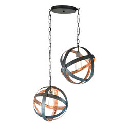 """Wine Country Craftsman - Double Atom - """"Plicate"""" - In our continuing effort to be environmentally conscious and recycle (and also make more awesome projects), we came up with this fun filled idea to re-use wine barrel rings in a unique way."""