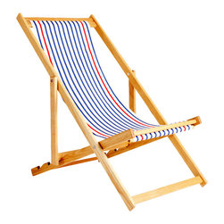 Gallant & Jones - Negril Deck Chair - Deck chair with Fabric Sling and Pillow
