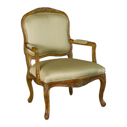Hammary - Hammary T72184-00 Hidden Treasures Hand-Carved Accent Chair - The Hidden Treasures collection is a fabulous assortment of one-of-a-kind accent pieces inspired by the greatest furniture designs from around the world. Each selection is a true treasure - rich in Old World icons and traditions. All the pieces in this collection are crafted with attention to every detail. From brass nailhead trim and exquisite hand-painting to elegant shaping and decorative trim, every item is a unique work of art. A wide variety of materials is used to create the perfect look and finest quality - from exotic woods, leather and stone to raffia and glass. The huge selection of finishes, hardware, exceptional carvings and other final touches offer unsurpassed versatility for any room in the home. Hidden Treasures includes cocktail tables, occasional and accent pieces, trunks, chests, consoles, wine racks, desks, entertainment units and interesting storage pieces. Place one in a comfortable reading nook... in the family room for flair and variety... in the foyer for a welcome look... in a bedroom for cozy style... or in the office for function and versatility. The pieces in this collection mix beautifully with any decorating style and will easily become the focal point in any setting.