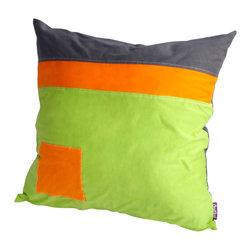 Blancho Bedding - [Youth] Knitted Fabric Patch Work Pillow Floor Cushion (19.7 by 19.7 inches) - Aesthetics and Functionality Combined. Hug and wrap your arms around this stylish decorative pillow measuring 19.7 by 19.7 inches, offering a sense of warmth and comfort to home buddies and outdoors people alike. Find a friend in its team of skilled and creative designers as they seek to use materials only of the highest quality. This art pillow by Onitiva features contemporary design, modern elegance and fine construction. The pillow is made to have invisible zippers, knitted fabric shells and fill-down alternative. The rich look and feel, extraordinary textures and vivid colors of this comfy pillow transforms an ordinary, dull room into an exciting and luxurious place for rest and recreation. Suitable for your living room, bedroom, office and patio. It will surely add a touch of life, variety and magic to any rooms in your home. The pillow has a hidden side zipper to remove the center fill for easy washing of the cover if needed.