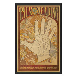The Artwork Factory - 'Palm Reading' Poster Print - A show of hands, please. Would you like to know what's in your future? This isn't a trick question. Simply hang this fade-resistant, acid-free print up and the writing will be on the wall for all to see, far into the future.