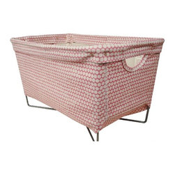 Rose Checker Hamper - Hable Construction - Hable Construction's gorgeous prints make even the most utilitarian object a thing of beauty. This great hamper would turn the mundane task of doing laundry into something oh-so much more pleasant. Also available in espresso, clementine, and charcoal colors.