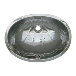 Whitehaus Collection - Whitehaus WH603ACL Polished Stainless Steel Undermount Bathroom Basin Sink - The decorative oval Fleur de lise pattern basin makes this bathroom sink timeless and eye catching point in your bathroom. This polished brass oval under mount bathroom basin sink by Whitehaus adds a timeless elegance to wide range of bathroom styles. Irresistible Fleur de lise pattern reflects relaxing water movement.