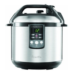 Breville - Breville BPR600XL Electric Pressure Cooker / Fast-Slow Cooker - Every home kitchen needs a handy pressure cooker/fast-slow cooker for whipping up each family member's favorite meal. Whether you're leaving a stew to cook for the entire day or quickly making some rice, this has got your covered. Keep the safety lid in place and set your timing. Let the machine do the rest.