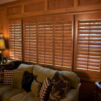 The Louver Shop - Stained Shutters - Stained Plantation Shutters