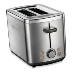 Calphalon - Calphalon Brushed Stainless Steel 2-Slice Toaster - Get the most from your toaster. This brushed stainless steel Calphalon toaster features extra-wide slots to accommodate bagels as well as thick slices of homemade bread.