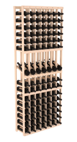 Wine Racks America - 7 Column Display Row Wine Cellar Kit in Pine, Satin Finish - Display rows allow presentation of favored and coveted labels. Your best vintages will greet onlookers in style. All the edges of our products are softened to ensure you won't get nicks or splinters, like you will from budget brands. You'll be satisfied. We guarantee it.