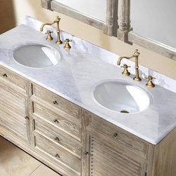 "71"" Veroli Double Sink Vanity - Driftwood -"