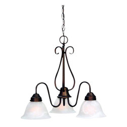 Volume Lighting - Volume Lighting V2353 Minster 3 Light 1 Tier Chandelier - Three Light 1 Tier Chandelier from the Minster CollectionTimeless and refined, this 3 light chandelier features 1 tier and classy alabaster glass.Features: