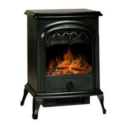 Lofty - Galway Electric Stove Heater Small - Lofty Galway SJ15SFB Small Free Standing Heater Electric Stove with Glass View Window.  Single Door.