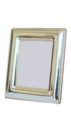 "Silverstar International - 3.5""x5"" Eve II Silver Sterling Picture Frame - Eve 25th anniversary picture frame is ideal for the happy couple to showcase wedding photos, and memorable moments of their life. Designed with a simple beaded outer border, Silverstar's 925 bi-laminated Sterling Silver picture frame is meticulously manufactured to an aluminum base for strength attached to a veneer mahogany wooden back & easel and a slide tab closure for easy photo access. Every Silverstar picture frame is designed with a tarnish resistant surface for easy cleaning and glare resistant glass. Display & showcase your best photographs in either a landscape or portrait position."