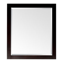 """Avanity - Lexington Mirror in Light Espresso - The Lexington birch framed mirror features a light espresso finish with simple lines. It matches the Lexington vanities for a coordinated look and includes mounting hardware that makes leveling easy. The mirror can be hanged either horizontally or vertically. Features: -Mirror. -Lexington collection. -Light espresso finish. -Available in 24"""" or 28"""" width size. -Birch solid wood construction. -Beveled mirror. -Hangs vertically and horizontally. -Wood cleat at back for easy hanging. -Dimensions: 32"""" H x 24"""" W x 1.2"""" D."""