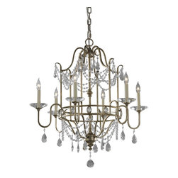 Murray Feiss - Murray Feiss Gianna 1 Tier Chandelier in Gilded Silver - Shown in picture: Gianna Chandelier in Gilded Silver finish