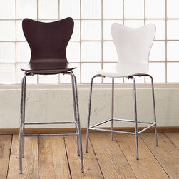Scoop-Back Bar Stool + Counter Stool - What's the scoop? Playful and particularly adaptable, the comfortable curves of this popular, crowd-pleasing stool are a fun and easy match with any number of decorating styles.