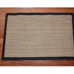"Dean Flooring Company - Dean Flooring Company Seagrass Rug/Mat 2'x3' Size 2' x 3' - Dean Flooring Company Seagrass Rug/Mat 2'x3' Size 2' x 3' : Natural Seagrass Rug/Mat 2' x 3' by Dean Flooring Company Color: Natural High quality all natural fiber seagrass construction Non-skid rubber backing Bound with 3"" wide black binding tape Matches Dean Flooring Stair Treads Add a touch of warmth and style to your home today!"